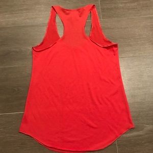 American Rag Tops - Coral colored racer back tank top size small